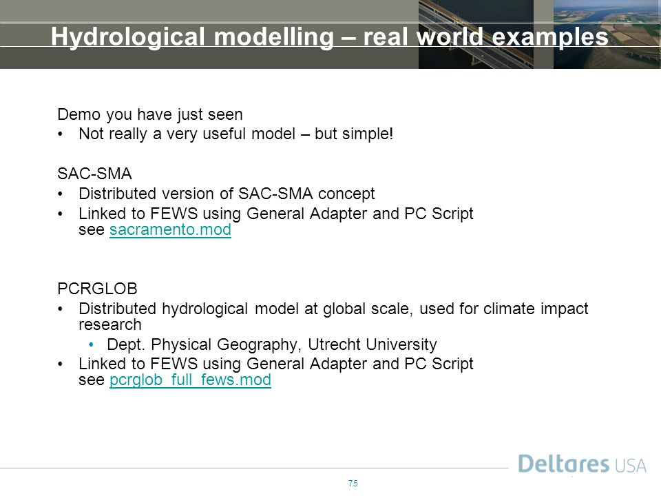 Hydrological modelling – real world examples