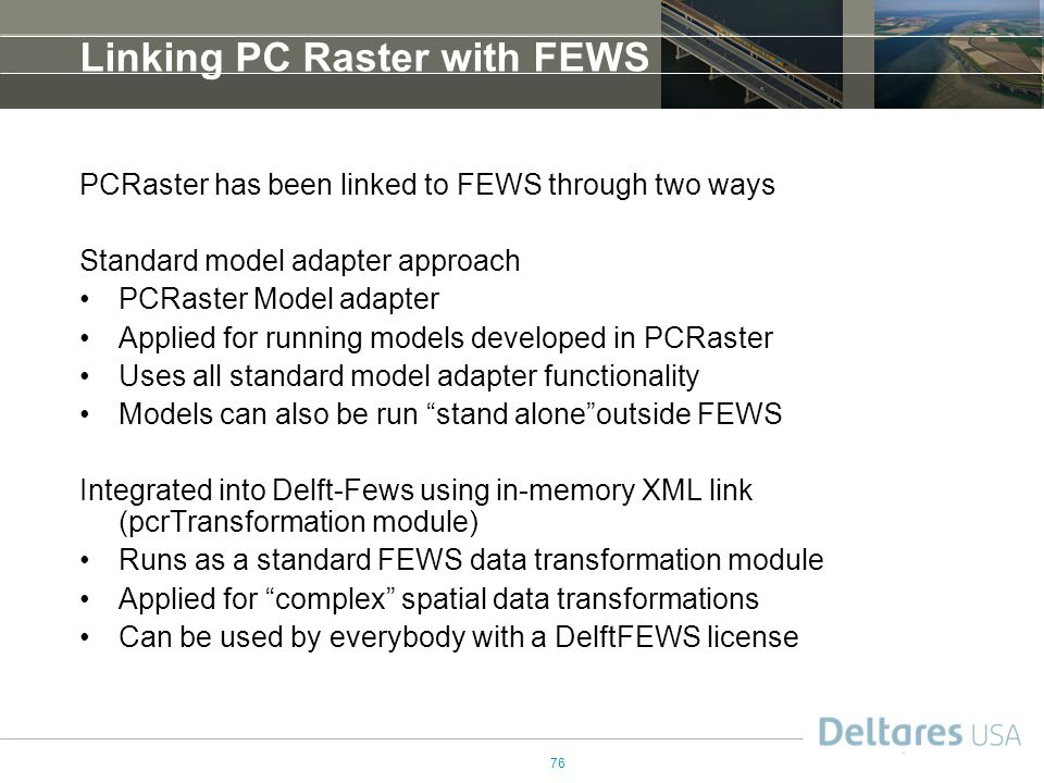 Linking PC Raster with FEWS