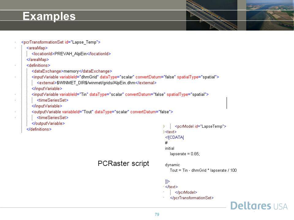 Examples PCRaster script