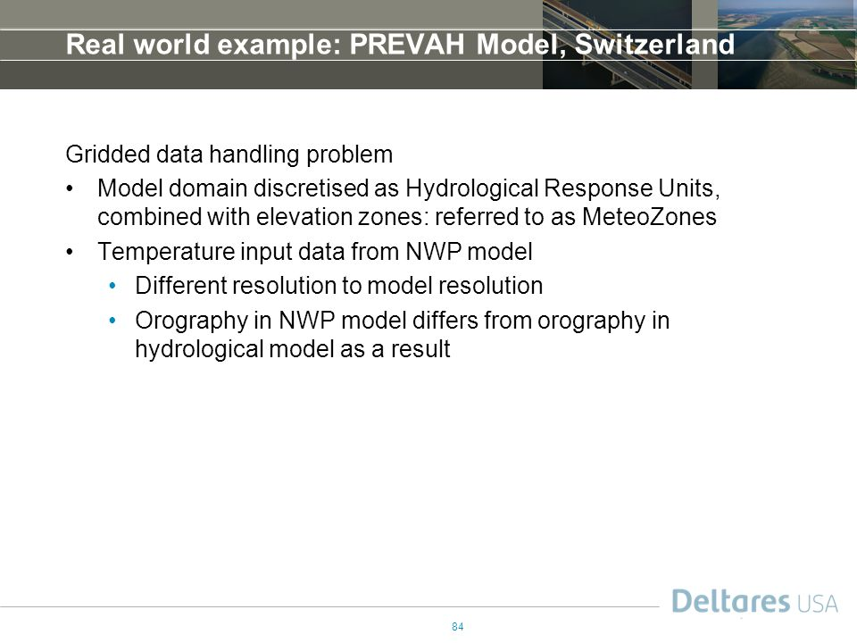 Real world example: PREVAH Model, Switzerland
