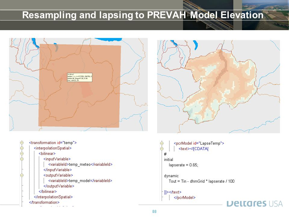 Resampling and lapsing to PREVAH Model Elevation
