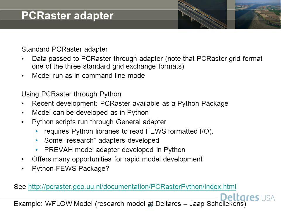 PCRaster adapter Standard PCRaster adapter