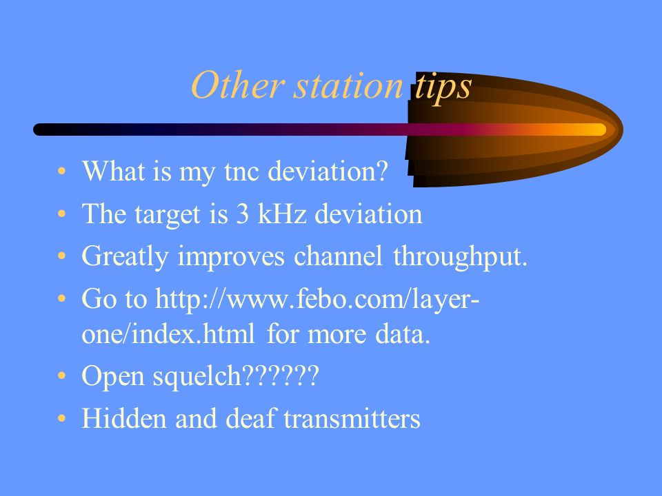 Other station tips What is my tnc deviation