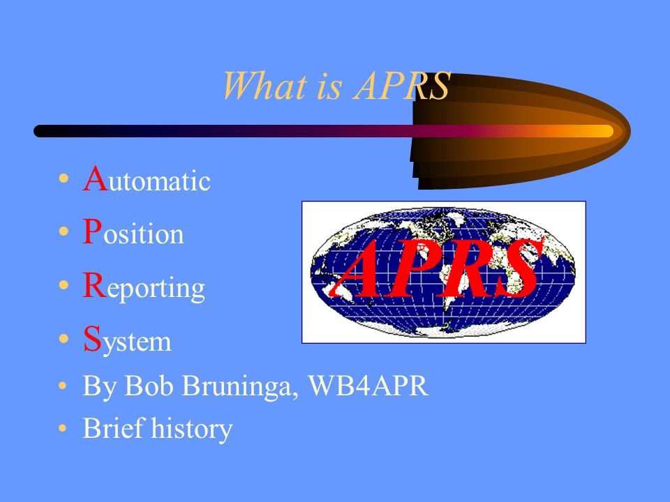 What is APRS Automatic Position Reporting System
