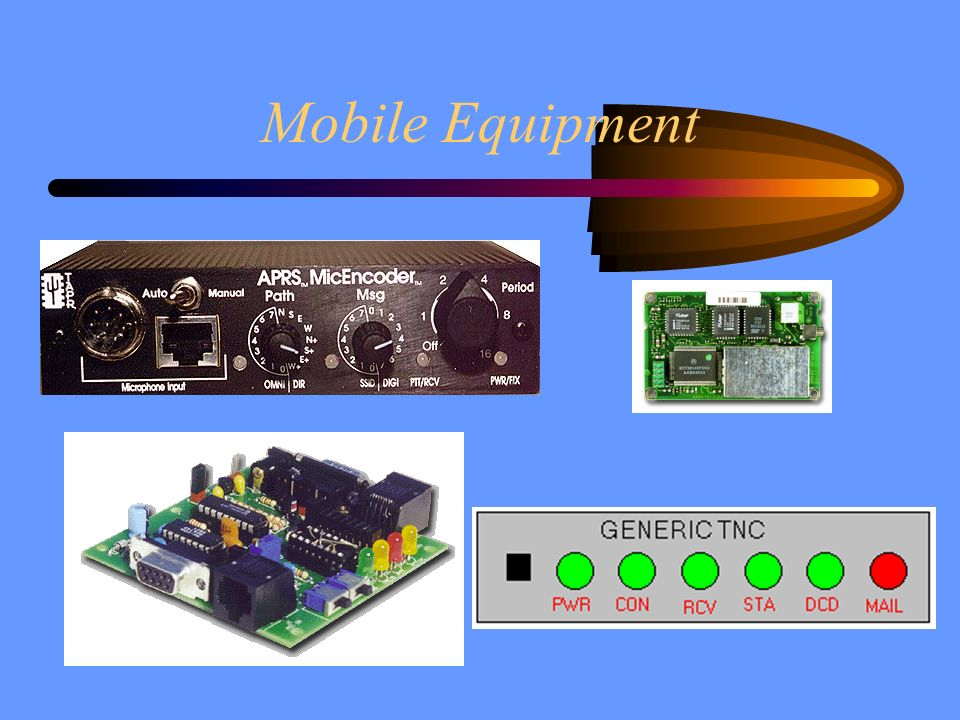 Mobile Equipment tell about each item