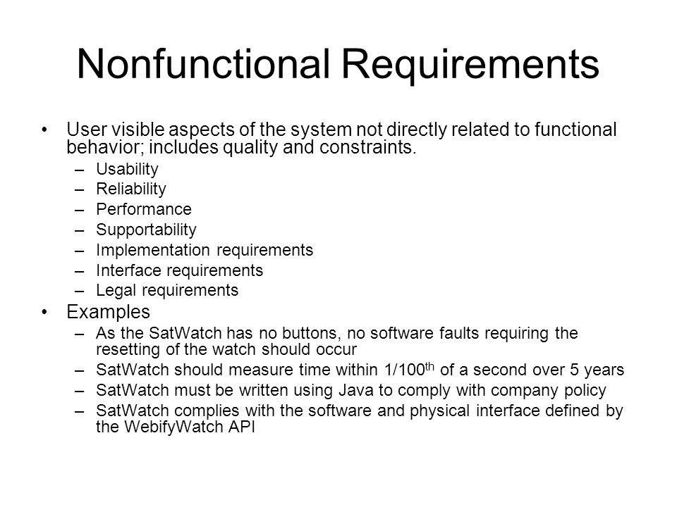 Nonfunctional Requirements