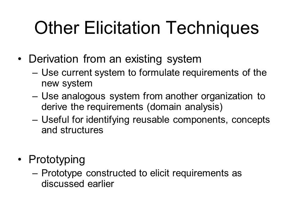 Other Elicitation Techniques
