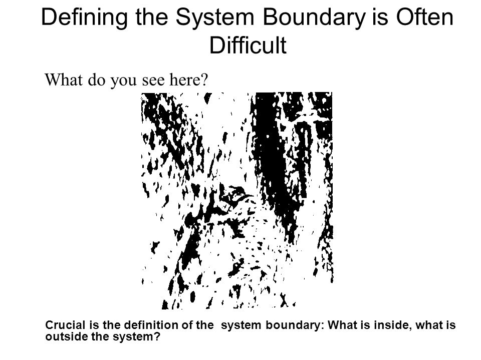 Defining the System Boundary is Often Difficult