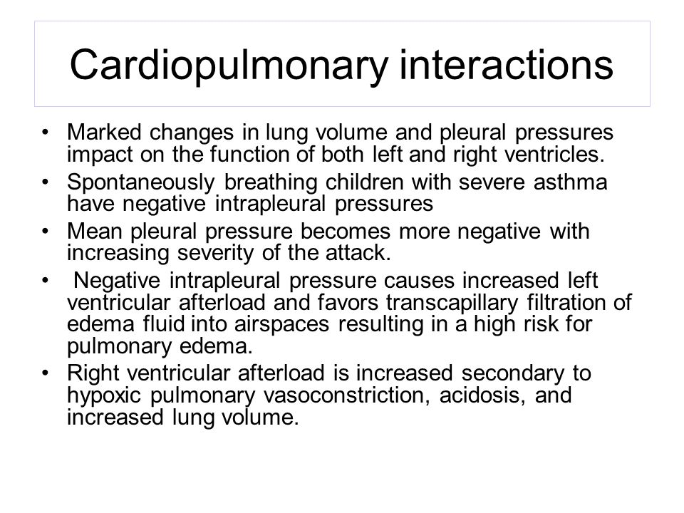 Cardiopulmonary interactions