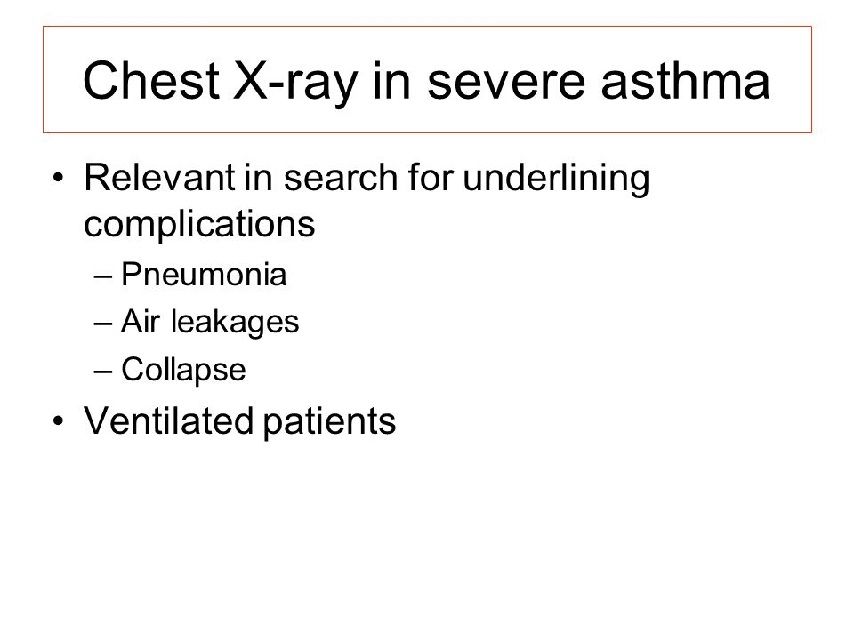 Chest X-ray in severe asthma