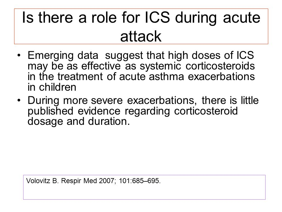 Is there a role for ICS during acute attack