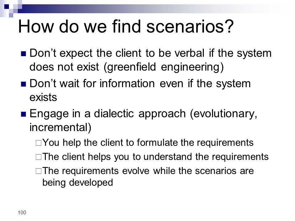 How do we find scenarios