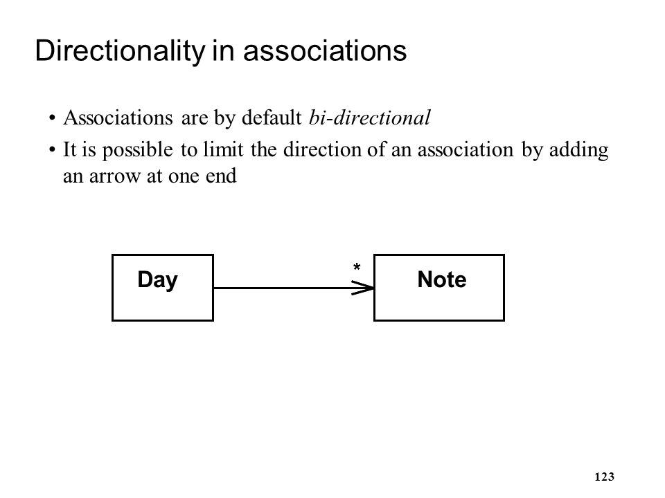 Directionality in associations
