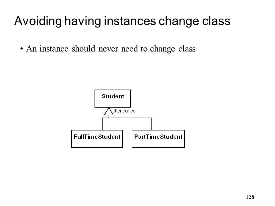 Avoiding having instances change class