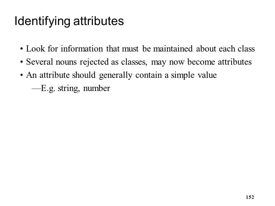 Identifying attributes