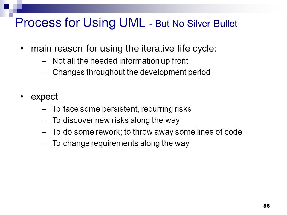 Process for Using UML - But No Silver Bullet