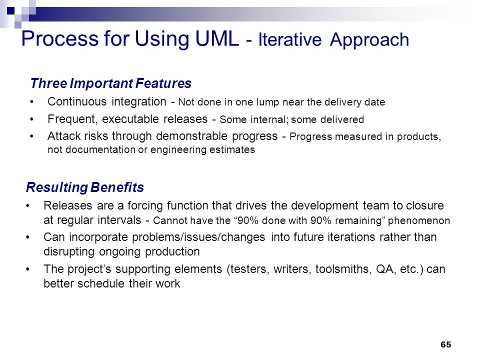 Process for Using UML - Iterative Approach