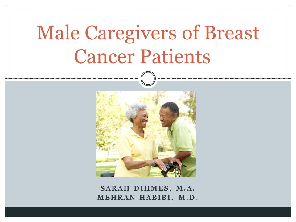 Male Caregivers of Breast Cancer Patients