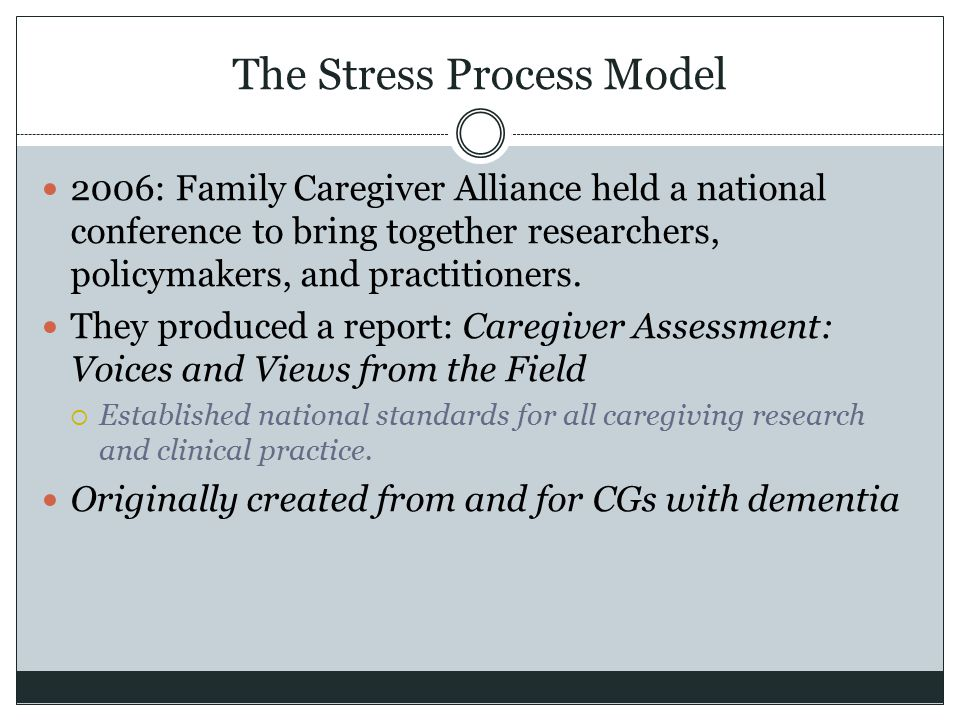 The Stress Process Model