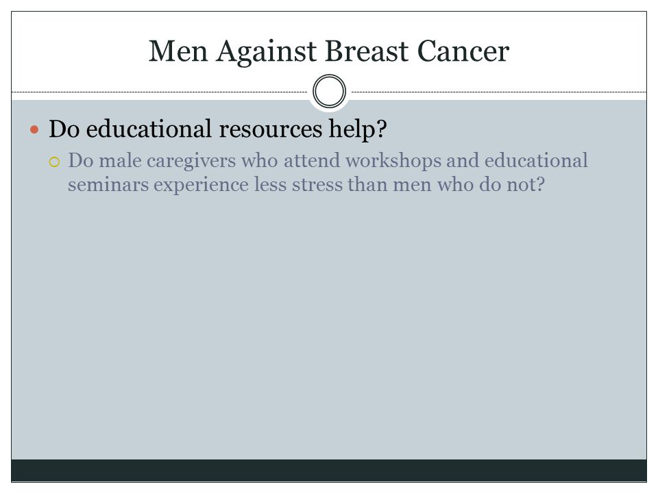 Men Against Breast Cancer