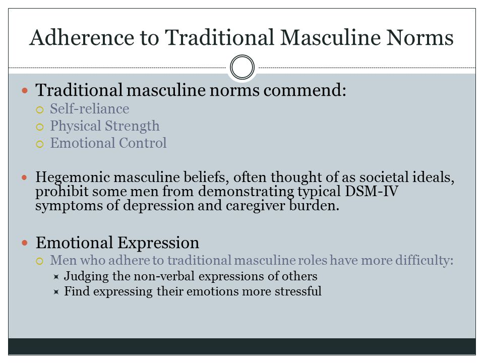 Adherence to Traditional Masculine Norms