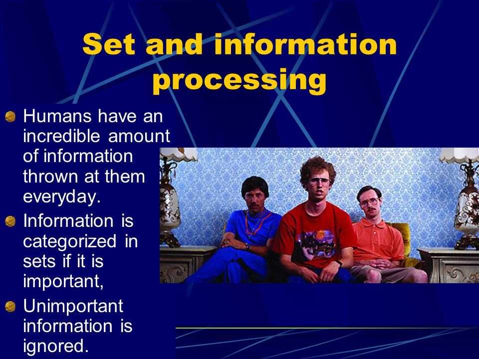 Set and information processing