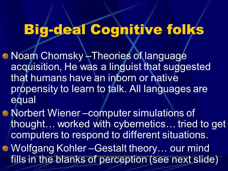 Big-deal Cognitive folks