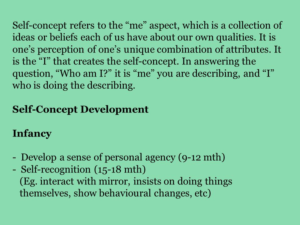 self concept and self esteem pdf