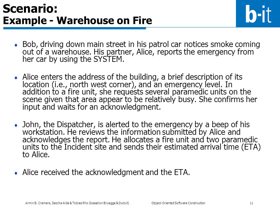 Scenario: Example - Warehouse on Fire