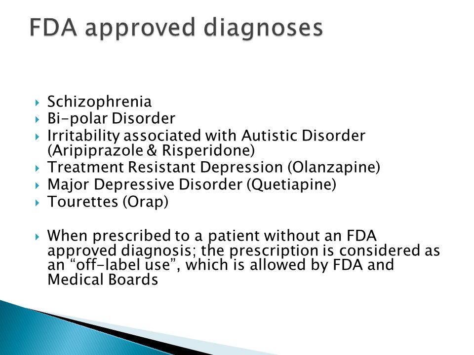FDA approved diagnoses