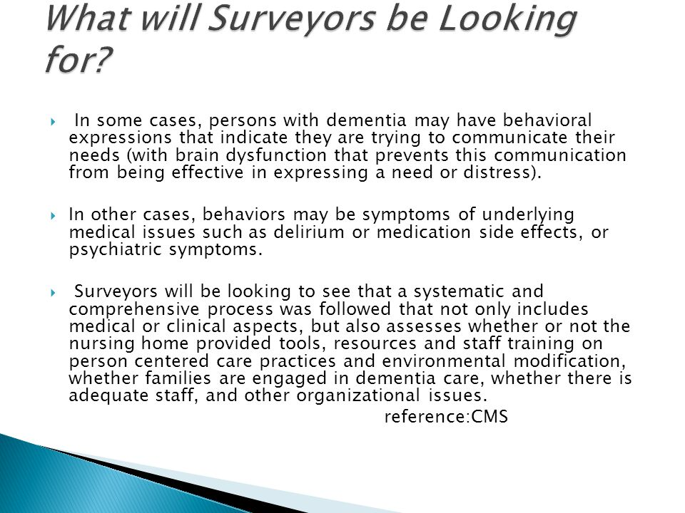 What will Surveyors be Looking for