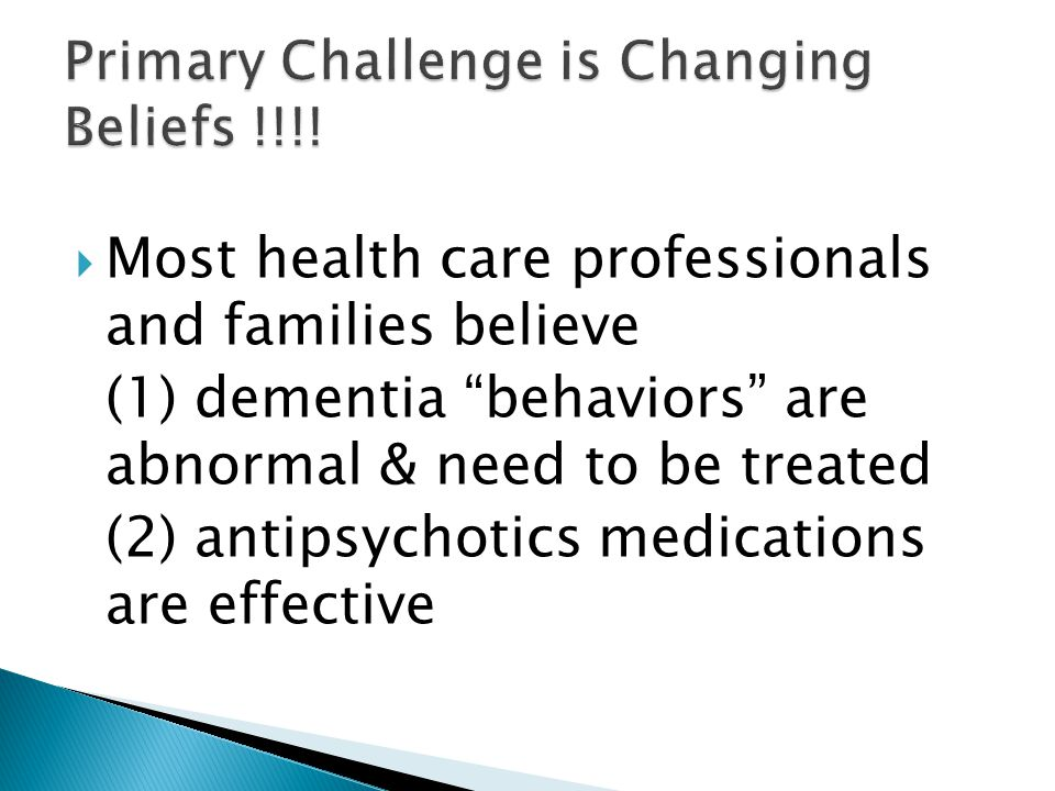 Primary Challenge is Changing Beliefs !!!!