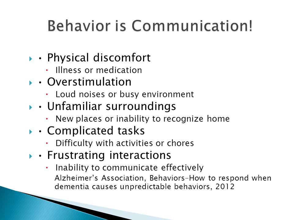 Behavior is Communication!