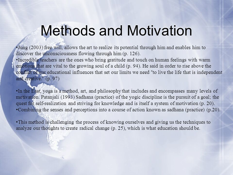 Methods and Motivation