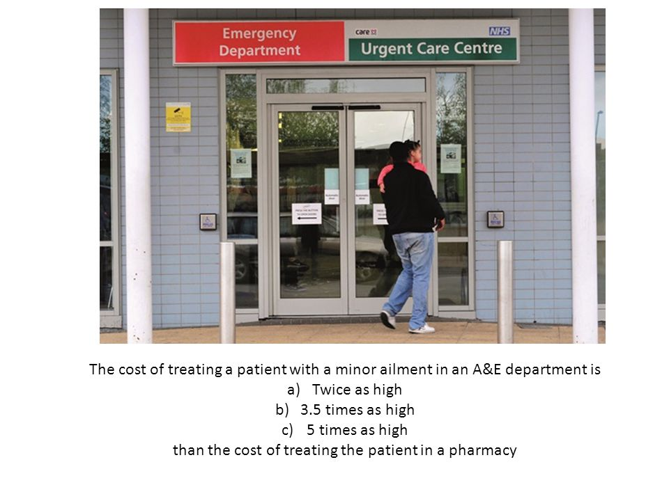 than the cost of treating the patient in a pharmacy