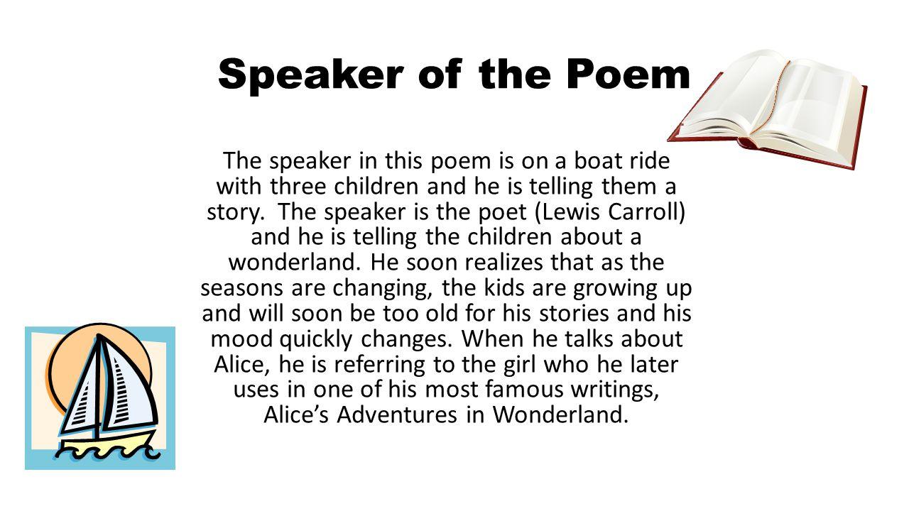 Speaker of the Poem