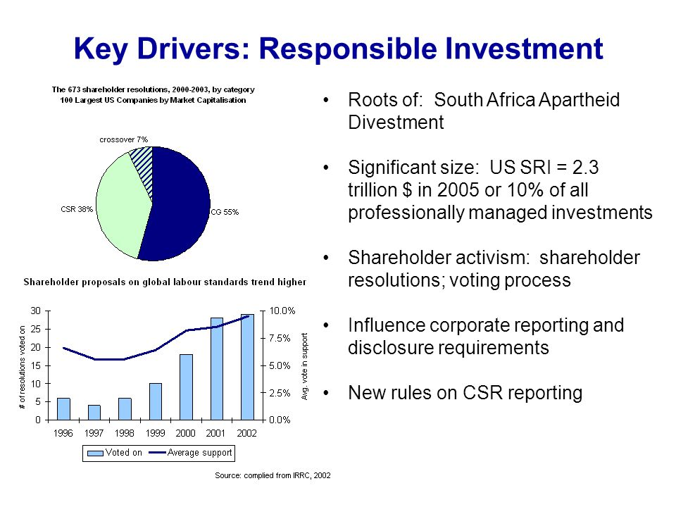 Key Drivers: Responsible Investment