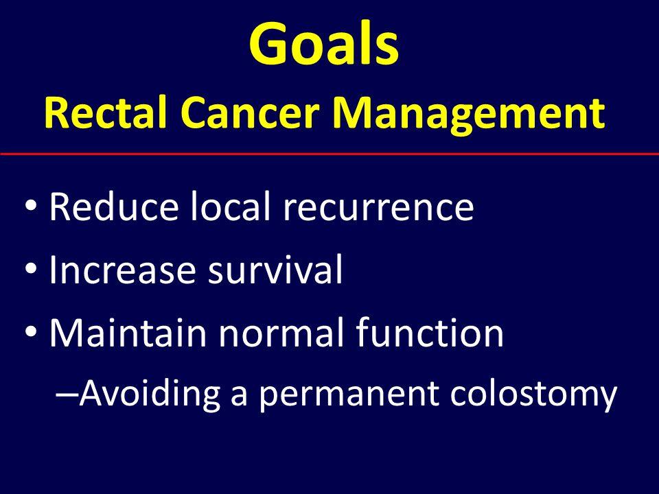 Goals Rectal Cancer Management