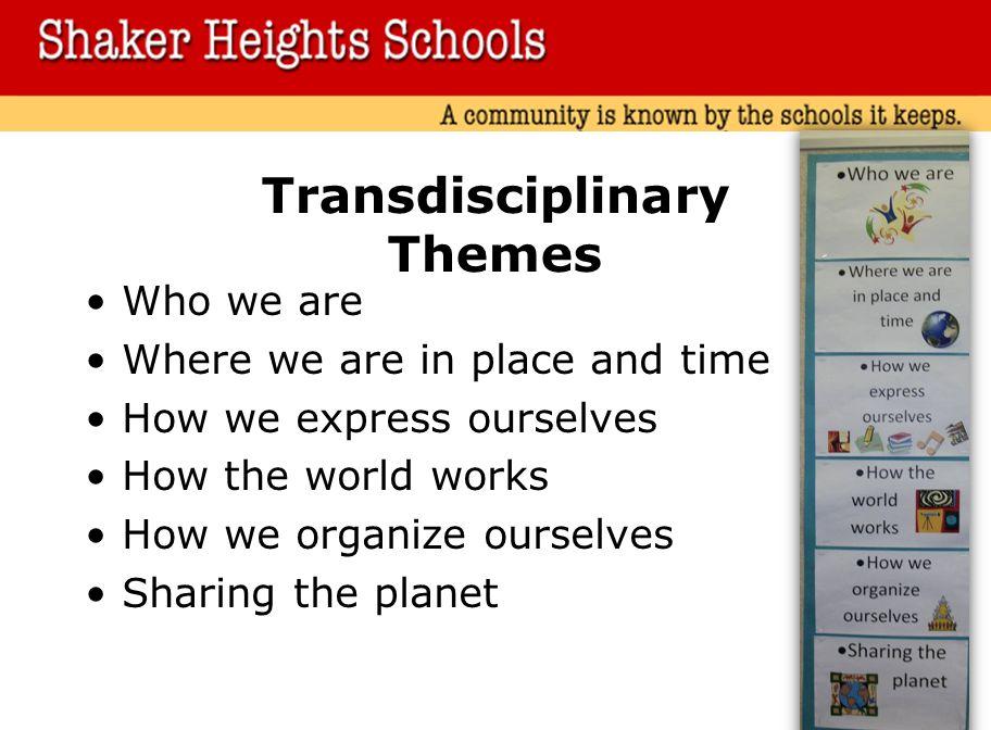 Transdisciplinary Themes