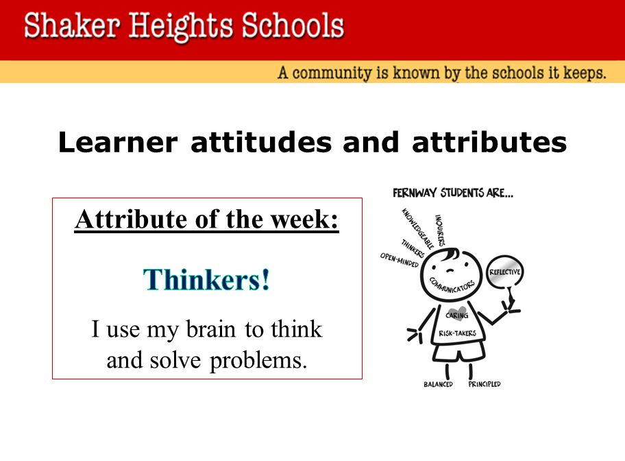 Learner attitudes and attributes
