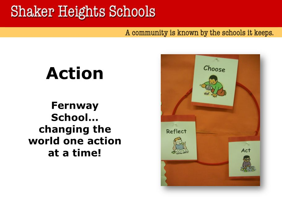 Action Fernway School… changing the world one action at a time!