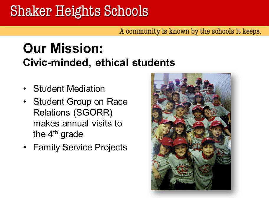 Our Mission: Civic-minded, ethical students