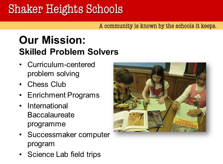 Our Mission: Skilled Problem Solvers