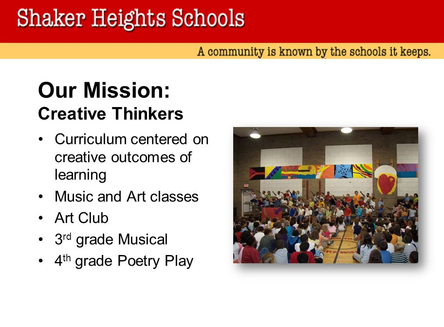 Our Mission: Creative Thinkers