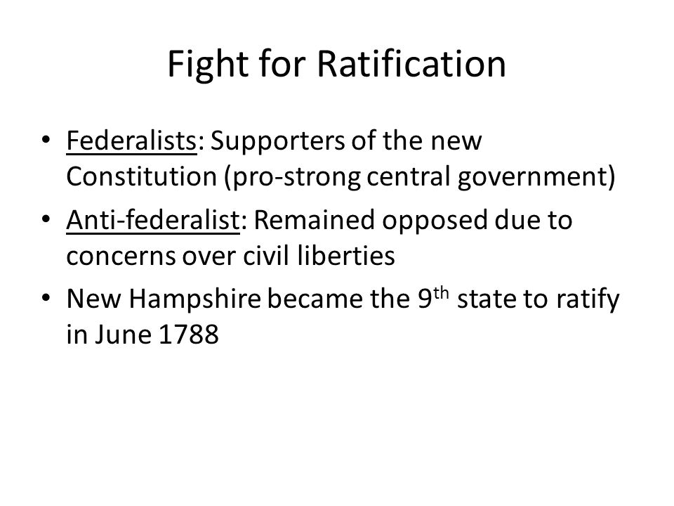 Fight for Ratification