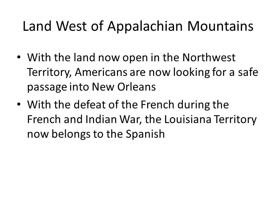 Land West of Appalachian Mountains