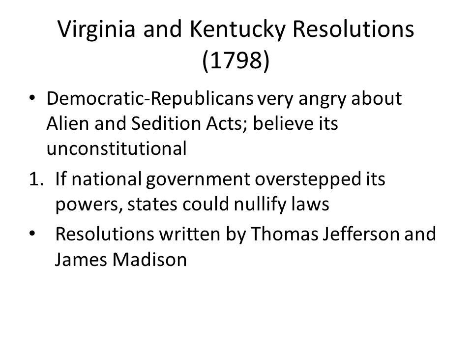 Virginia and Kentucky Resolutions (1798)