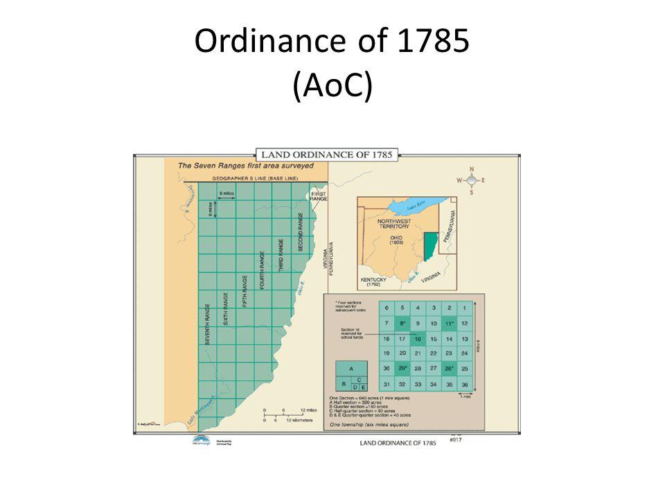 Ordinance of 1785 (AoC)