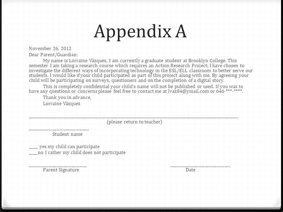 Appendix A November 26, 2012 Dear Parent/Guardian: