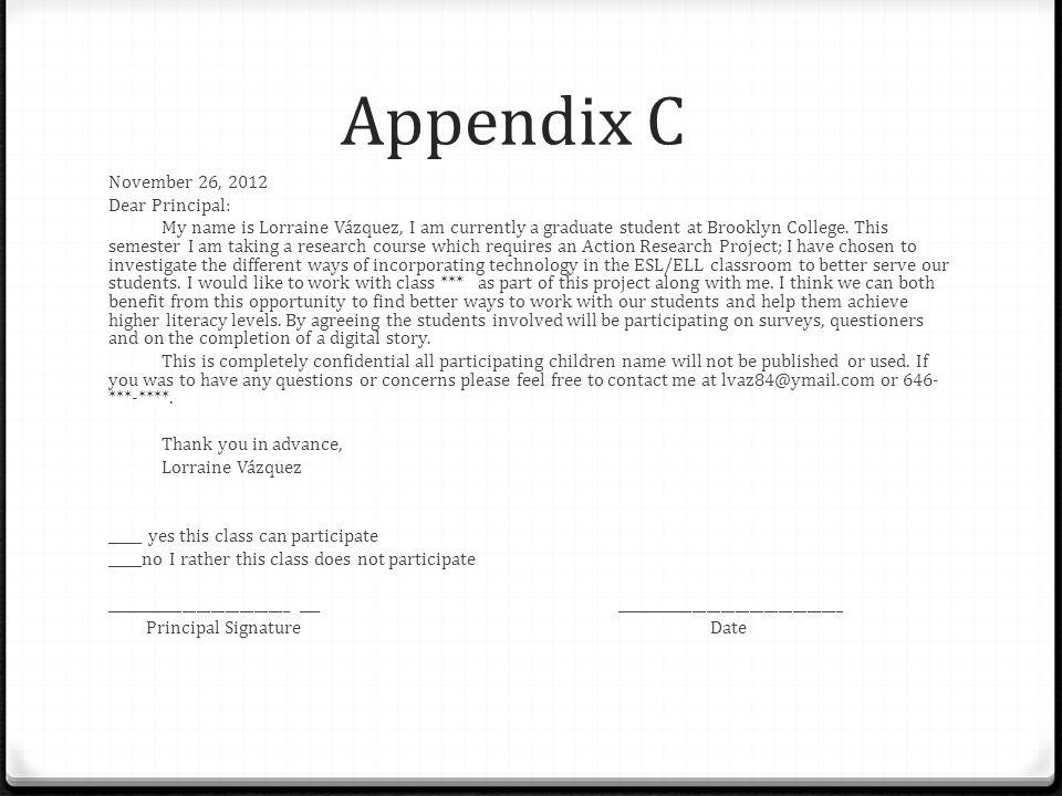 Appendix C November 26, 2012 Dear Principal: